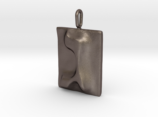 03 Gimel Pendant in Stainless Steel