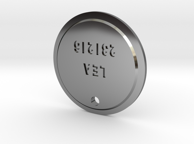 TLOU Pendant - Lea 231216 in Fine Detail Polished Silver