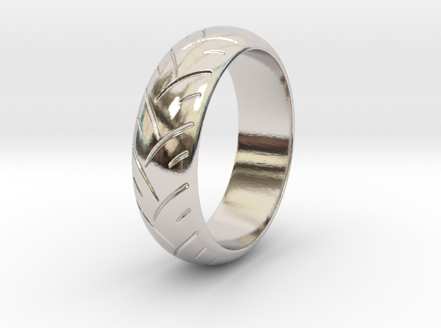 Victor F. - Ring in Rhodium Plated Brass: 6 / 51.5