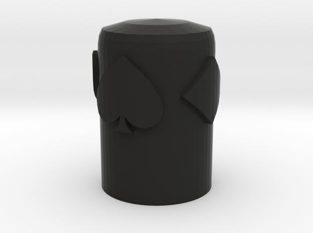 Card Suits Thimble in Black Natural Versatile Plastic
