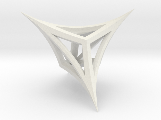Figure eight (wireframe) in White Strong & Flexible