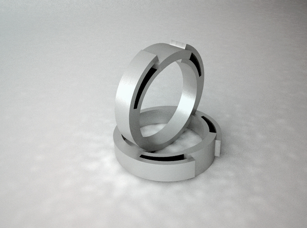 Snake Ring - Size 6.75 3d printed Digital image - Second ring not included