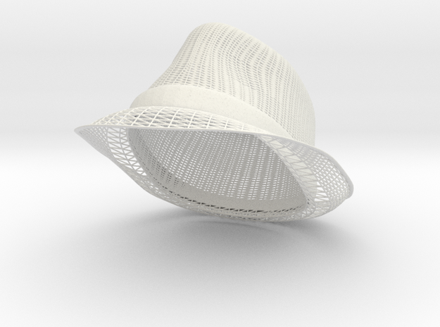 Fedora in White Strong & Flexible