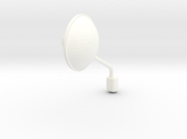 1/24 peterbilt 379 corner Mirror Left in White Processed Versatile Plastic: 1:24