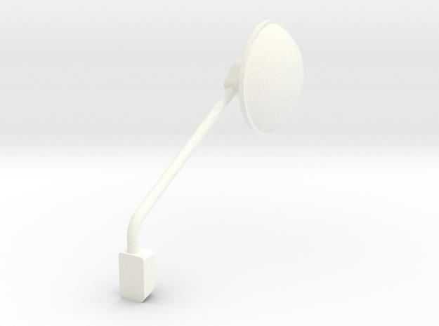 1/24 peterbilt 379 corner Mirror Right in White Processed Versatile Plastic: 1:24