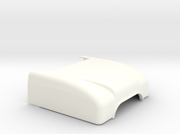 1/24 Peterbilt Unibilt Sleeper Roof part in White Strong & Flexible Polished: 1:24