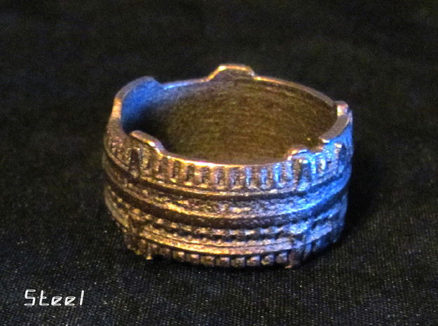 Star Gate Ring #1, Ring Size 9 in Antique Silver