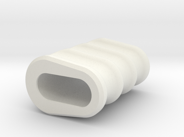 Noisy Cricket Grip for the Wismec Noisy Cricket in White Natural Versatile Plastic