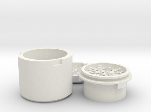 Herb 420 Grinder in White Strong & Flexible
