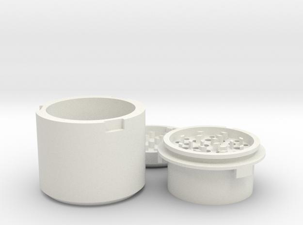 Herb 420 Grinder in White Natural Versatile Plastic