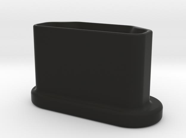 USB Cap Type A in Black Natural Versatile Plastic