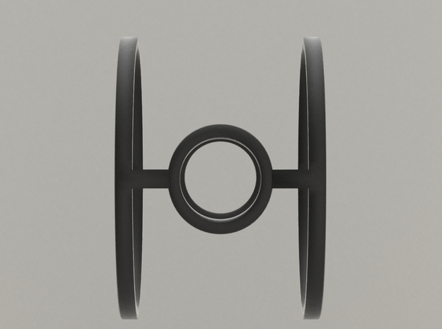 Minimalist Tie Fighter Ring