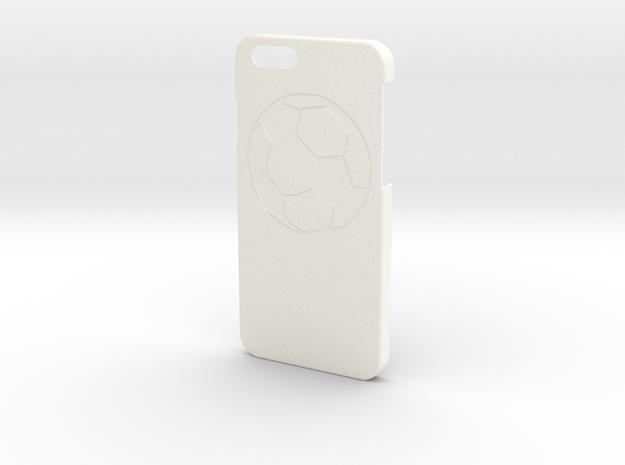 Iphone 6 Case - Name On The Back - Soccer in White Strong & Flexible Polished