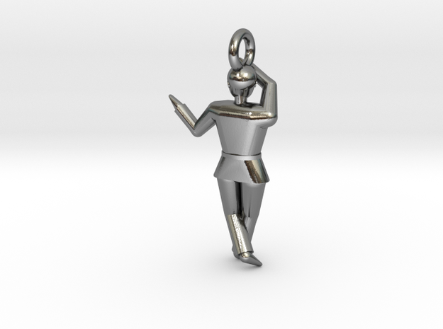 Pendant - Chango in Polished Silver