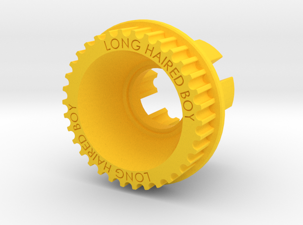 10mm 34T Pulley For Flywheels in Yellow Processed Versatile Plastic