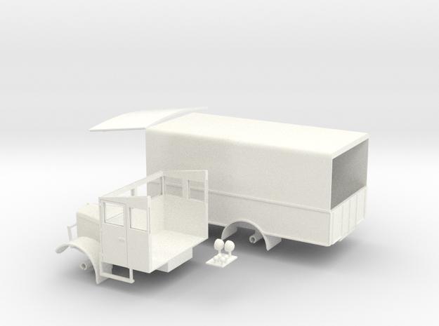 1:43 Albion 5ton L.M.S Parcels Van 1930s 3d printed