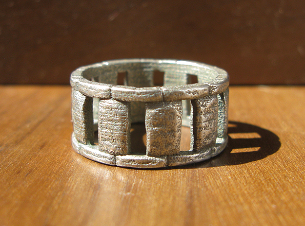 Stone Circle Ring in Stainless Steel: 7 / 54
