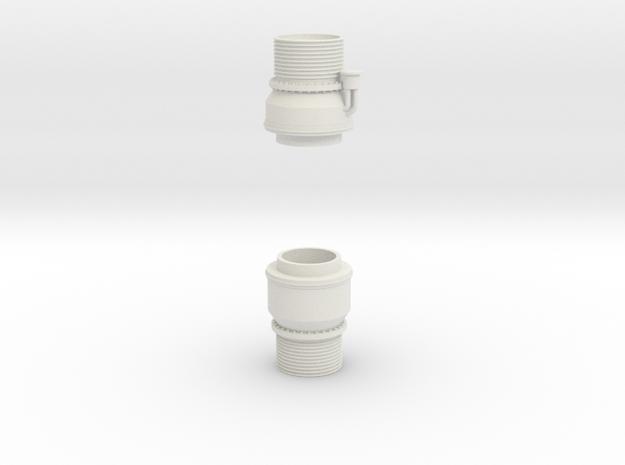 H1 Engine Parts 1:10 in White Natural Versatile Plastic