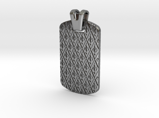 Royal Dog Tag in Polished Silver