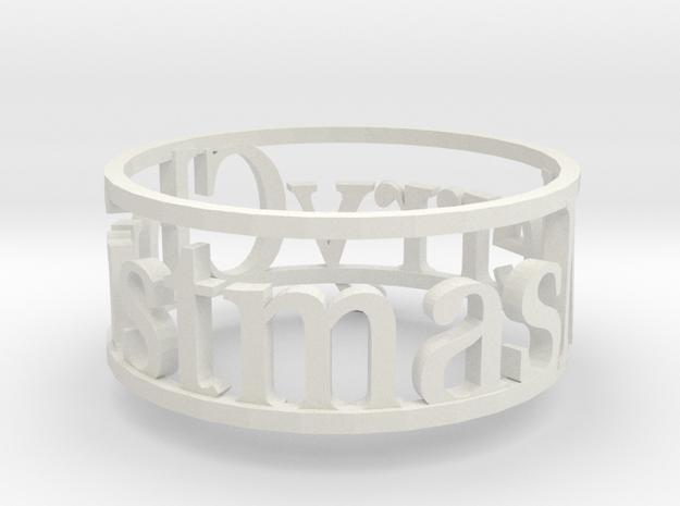Napking Ring for Christmas in White Strong & Flexible: 6 / 51.5