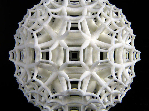{4,3,5} H³ Honeycomb in White Natural Versatile Plastic