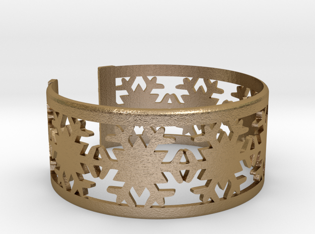 Snowflake Bracelet Small GOOD in Polished Gold Steel