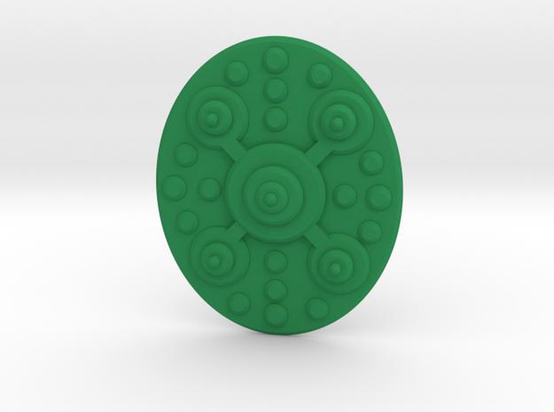 TEWOJ Barbarian Shield. in Green Strong & Flexible Polished