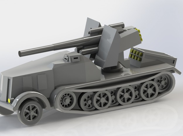 SdKfz. 8 12to Prime Mover with 8,8cm SPG 1/285 6mm 3d printed Add a caption...