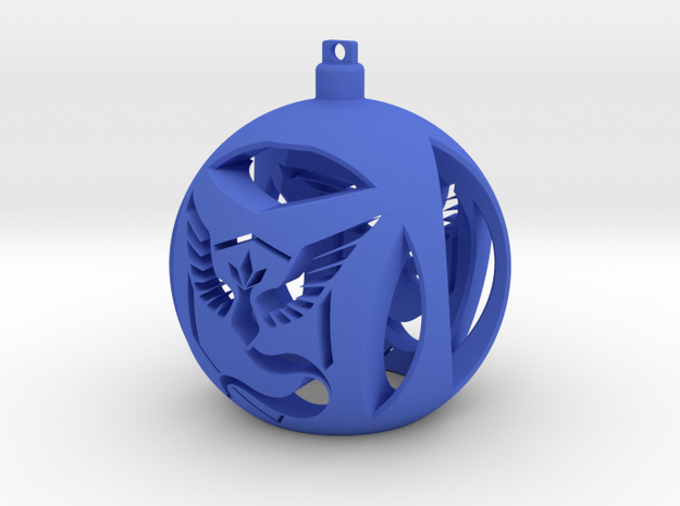 Team Mystic Christmas Ornament Ball in Blue Processed Versatile Plastic