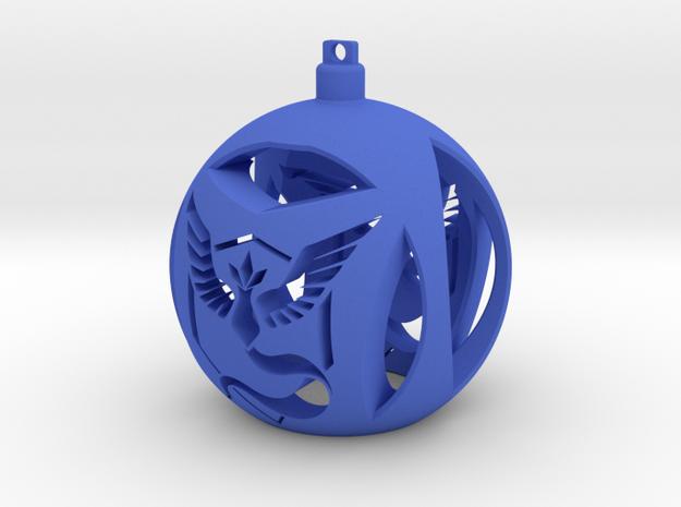 Team Mystic Christmas Ornament Ball in Blue Processed Versatile Plastic