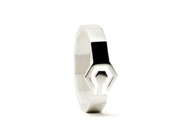 Bague Meandres in Polished Silver: Extra Small