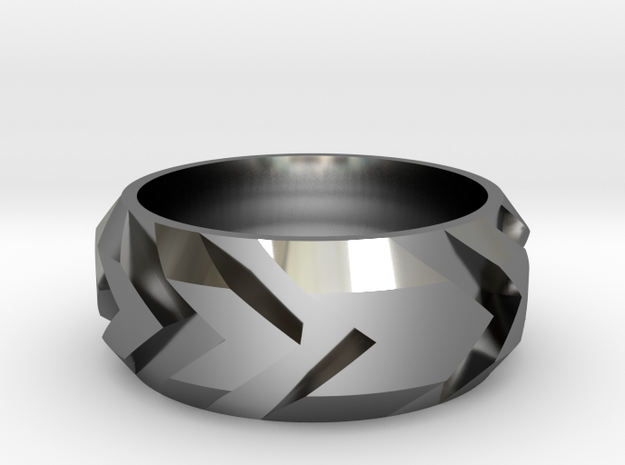 Arrow Ring in Fine Detail Polished Silver