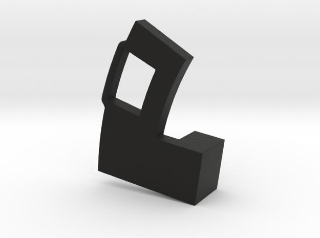 FDn Aperture Arm Short 3mm in Black Natural Versatile Plastic