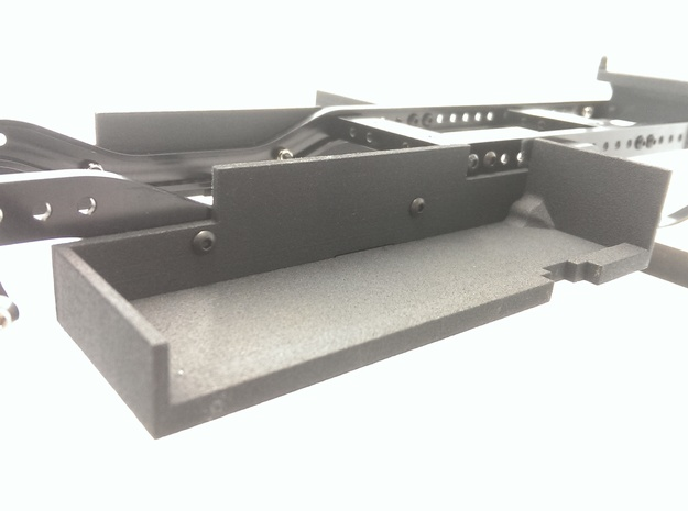 CMAX+Hilux LEFT Battery Tray in Black Natural Versatile Plastic