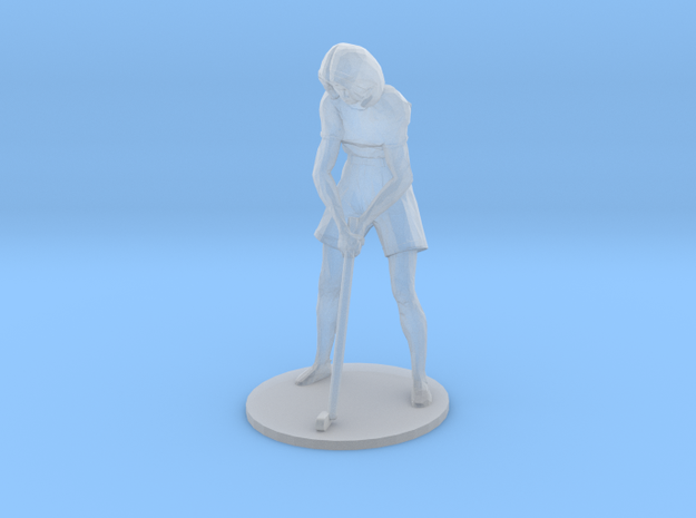 Female Golfer: Putting in Smoothest Fine Detail Plastic: 1:64 - S