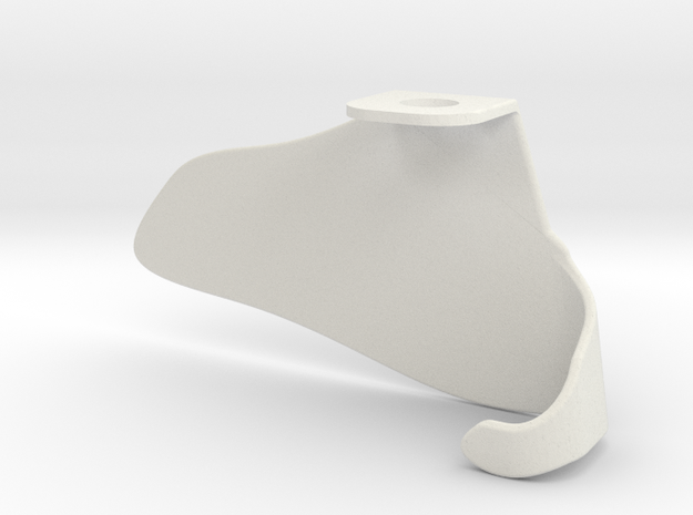 Cape3 in White Natural Versatile Plastic