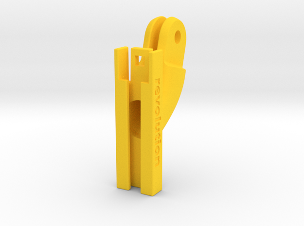 Cycliq Fly6 GoPro Adapter in Yellow Strong & Flexible Polished