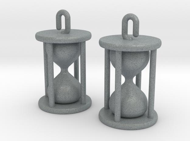 Hourglass Earrings in Polished Metallic Plastic