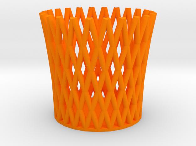 Pencil Cup in Orange Processed Versatile Plastic