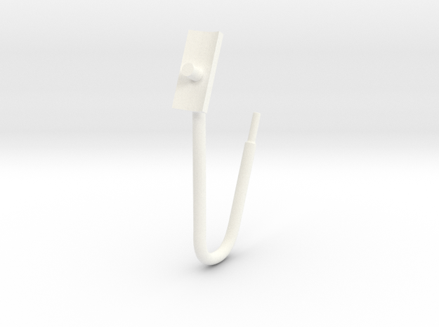Whirlwind Pitot Tube in White Processed Versatile Plastic