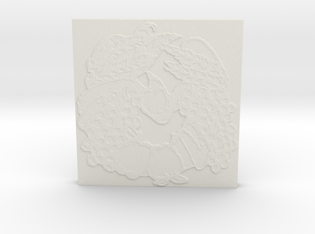 Abundance Horseshoe 1 Tile by Gabrielle in White Natural Versatile Plastic