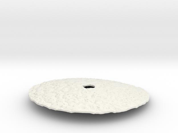 Poaceae Cover Lid in White Natural Versatile Plastic