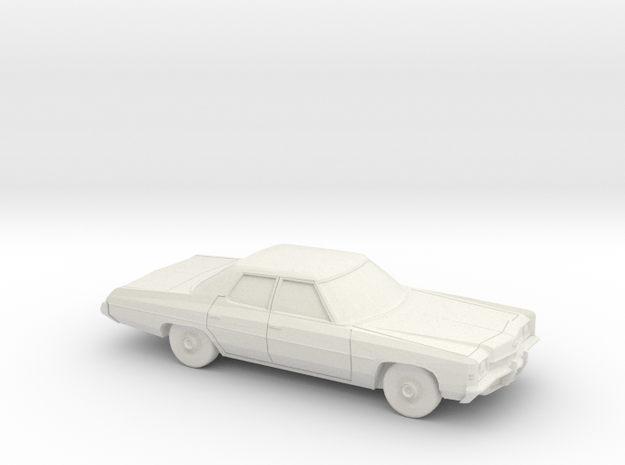 1/87 1972 Chevrolet Impala Sedan in White Natural Versatile Plastic