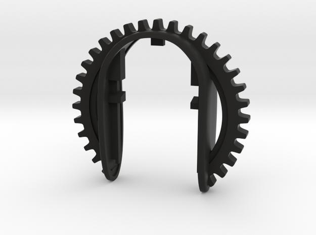 KEY FOB GEAR in Black Natural Versatile Plastic