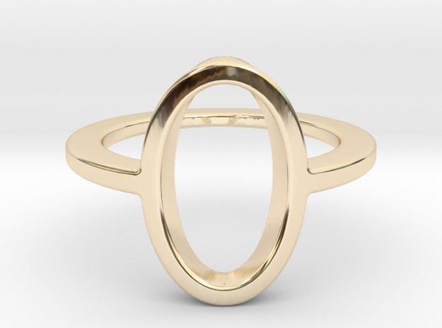 Oval Ring -size 8 in 14K Yellow Gold