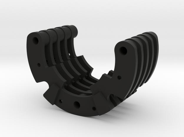 Part 04 (fin pack) in Black Natural Versatile Plastic