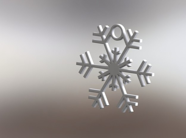 Snowflake 3d printed Christmas Ornament
