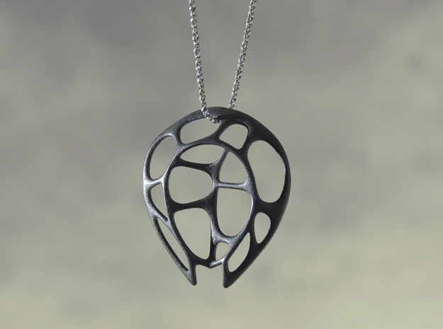 Aly Pendant in Polished Grey Steel