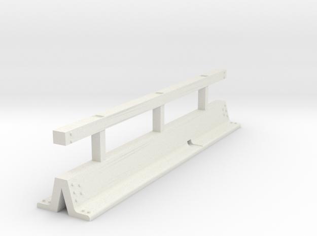OO scale Varioguard Metal Motorway Barrier 4m leng in White Natural Versatile Plastic