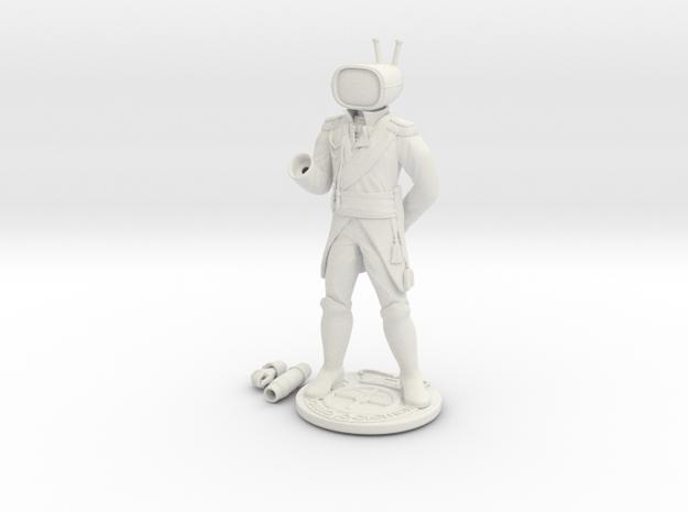 Prince Robot IV in White Natural Versatile Plastic